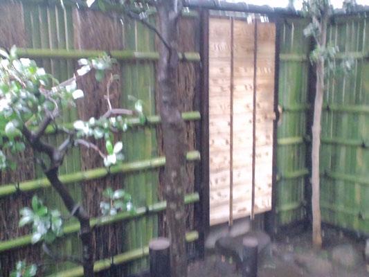 南禅寺垣瓦付き、庭木戸5.5尺