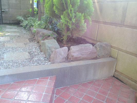 庭石据え付け完了