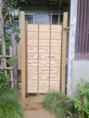 新設 庭木戸