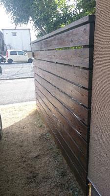 ウッドフェンス塗装、オスモカラー