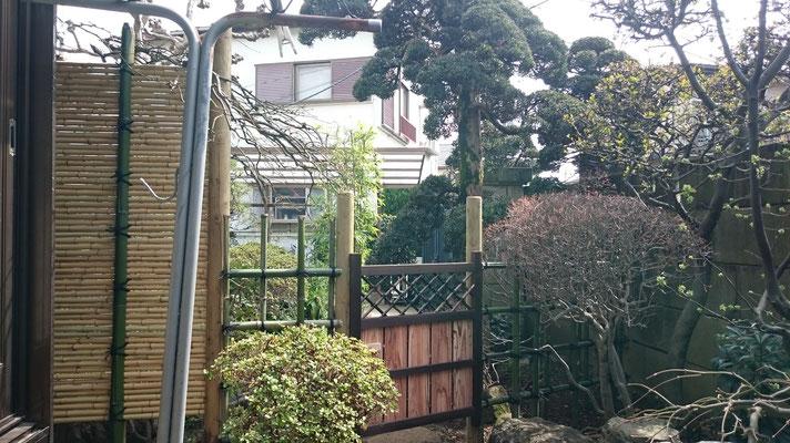 四ッ目垣と庭木戸