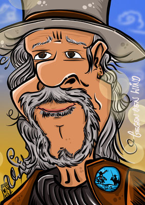 Thomas Spitzer Mastermind EAV Erste Allgemeine Verunsicherung Karikatur Copyright Boy Tanja Graumann