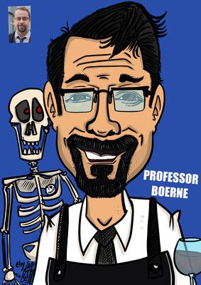 Jan Josef Liefers spielt Prof. Dr. Karl Friedrich Boerne Karikatur Copyright by Tanja Graumann