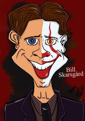 Bill Skarsgård spielt Pennywise Karikatur Copyright by Tanja Graumann