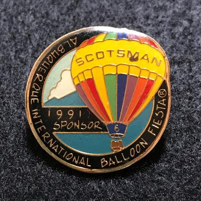 1991 Albuquerque Aloft Gracias International Balloon Fiesta Official AIBF pin
