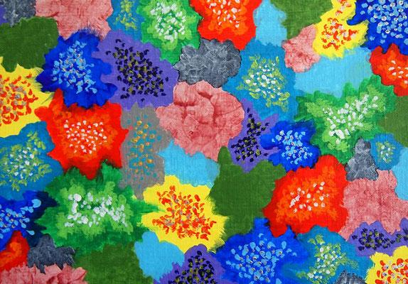 flowers #5 アクリル、キャンバス 158×227mm