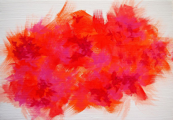 Undulation #47,  Acrylic on canvas,  158×227mm