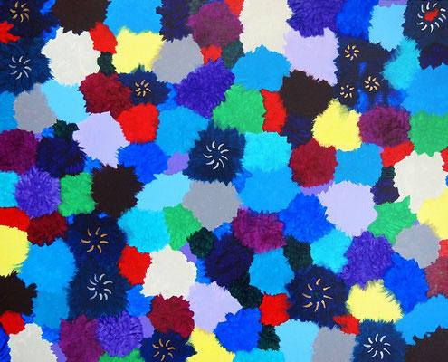 Paradise flowers #3,  Acrylic on canvas,  530×652mm