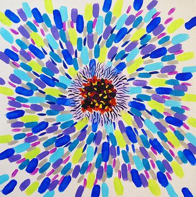 flower #40,  Acrylic on canvas,  315×315mm