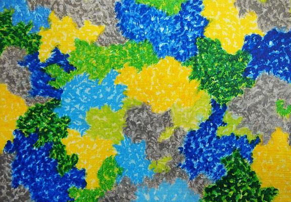 Nature #32 アクリル、キャンバス 158×227mm