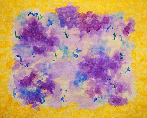 Undulation #44,  Acrylic on canvas,  220×273mm