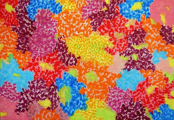 flowers #3 アクリル、キャンバス 158×227mm