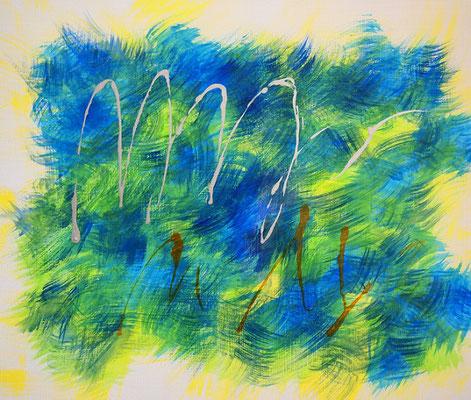 波動と遊び #2 アクリル、キャンバス 455×530mm