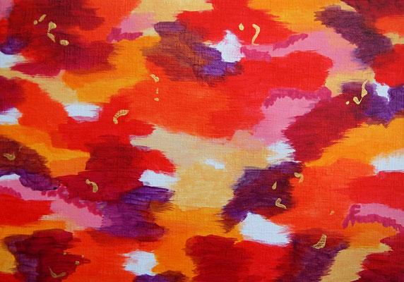 雲と波動 #3 アクリル、キャンバス 158×227mm
