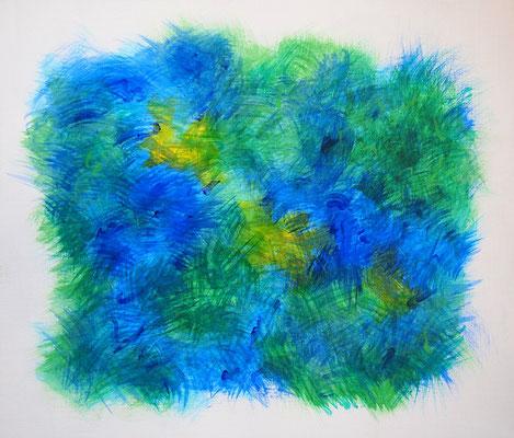 Undulation #42,  Acrylic on canvas,  455×530mm