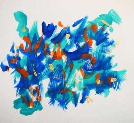 無題 210516 アクリル絵具、水彩紙 136×149mm
