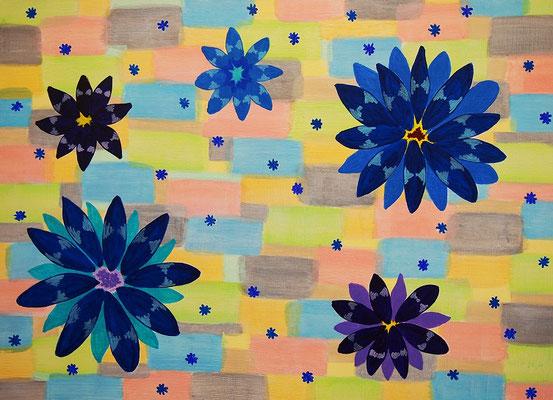 flower #43 アクリル、キャンバス 530×727mm