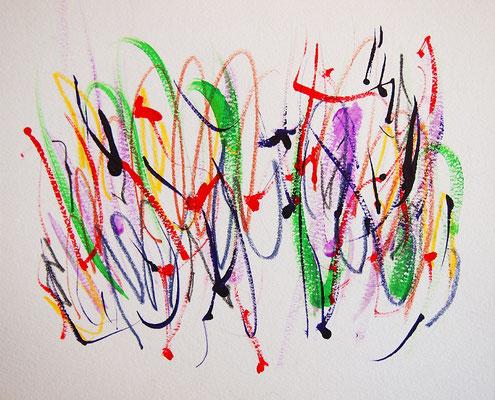 無題 210713 アクリル絵具、色鉛筆、水彩紙 140×171mm