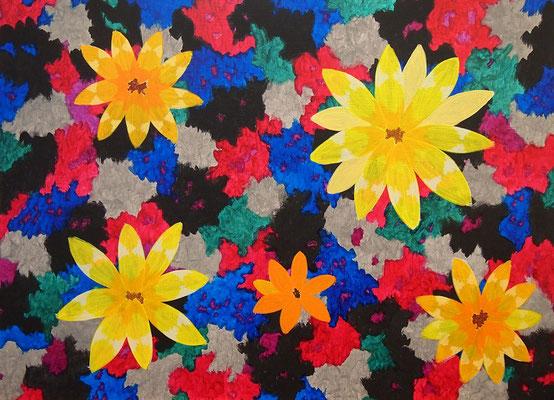 flower #44 アクリル、キャンバス 530×727mm