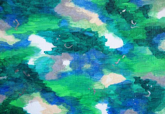 雲と波動 #2 アクリル、キャンバス 158×227mm
