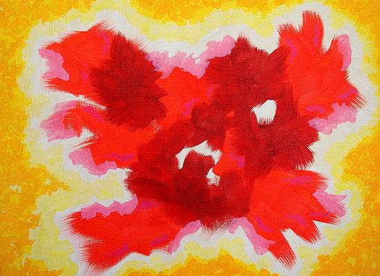 flight,  Acrylic on canvas, 242×333mm