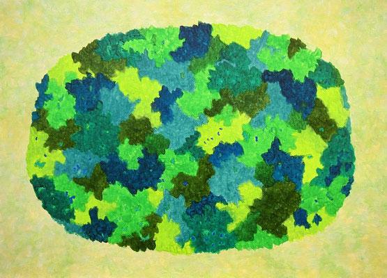 緑の太陽 #2 アクリル、キャンバス 530×727mm
