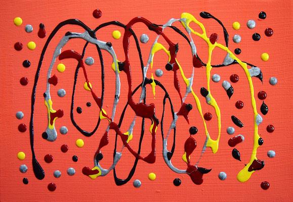 地球からの恵み #3 アクリル、ポーリングメディウム、キャンバス 158×227mm
