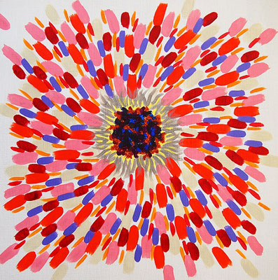 flower #41,  Acrylic on canvas,  315×315mm