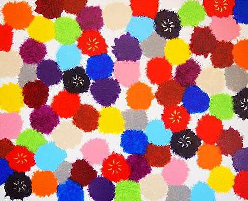 Paradise flowers #4,  Acrylic on canvas,  530×652mm