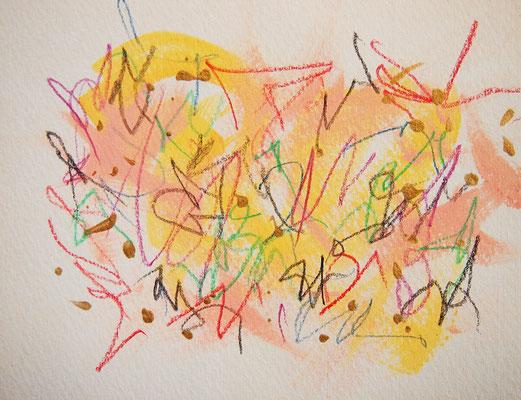 無題 210517 アクリル絵具、色鉛筆、水彩紙 118×154mm