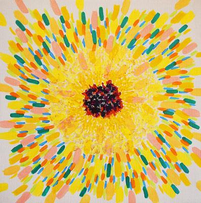 flower #39,  Acrylic on canvas,  315×315mm
