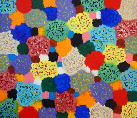flowers #8 アクリル、キャンバス 455×530mm