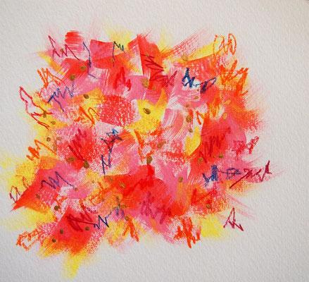 無題 210515 アクリル絵具、色鉛筆、水彩紙 137×151mm