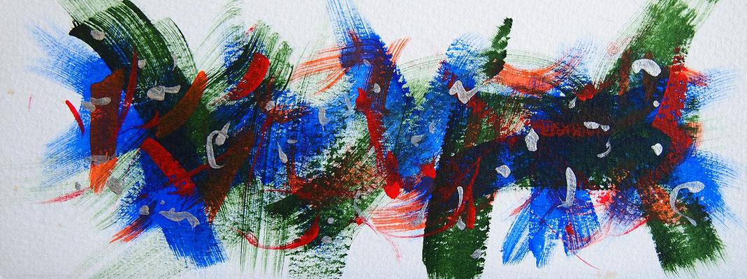 無題 210608 アクリル絵具、水彩紙 101×265mm