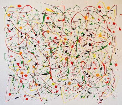 Undulation #58,  Acrylic and String gel medium on canvas,  455×530mm
