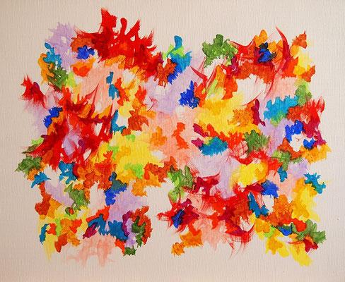 楽園の波動 #2 アクリル、キャンバス 500×606mm