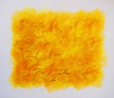 Undulation #35,  Acrylic on canvas, 455×530mm