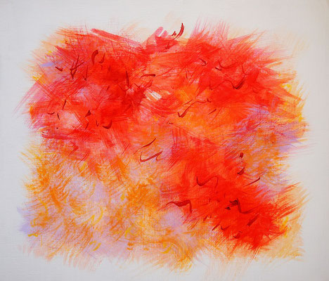 Undulation #41,  Acrylic on canvas,  455×530mm