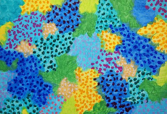 雨の日 アクリル、キャンバス 158×227mm