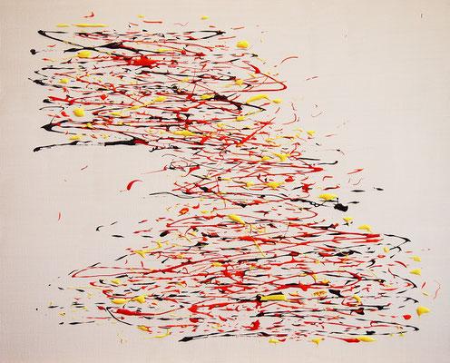 Undulation #55,  Acrylic and String gel medium on canvas,  530×652mm
