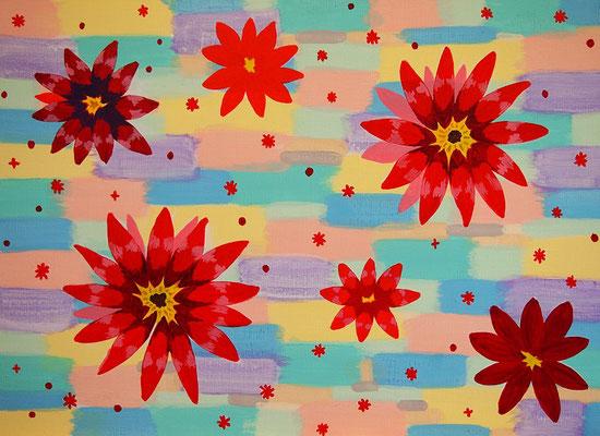 flower #42 アクリル、キャンバス 530×727mm