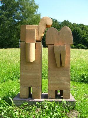 Königspaar, 2000, Steinzeug, mehrteilig; H: 1,20m