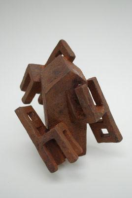 roundabout Eisenguss, Bronze, Edelstahl 15x12x13cm, Auflage 9