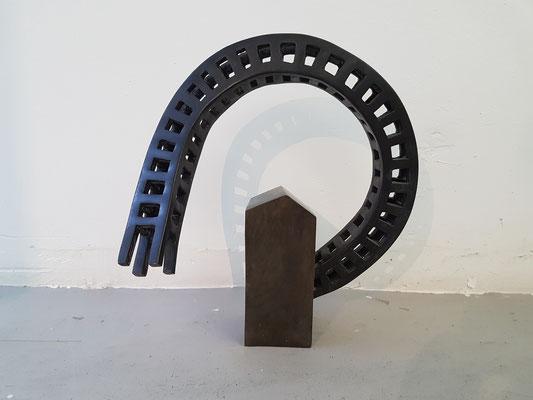 Auf dem Weg sein, 2018, Bronze, Auflage 3, 35x18x38cm