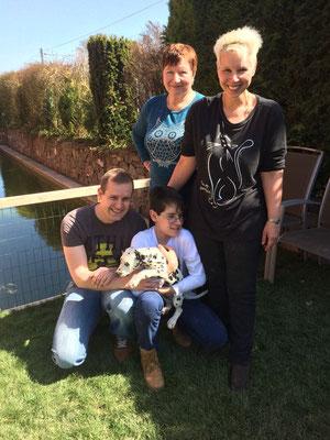 Ado Beni mit Tim, Oliver, Dalila und Lea