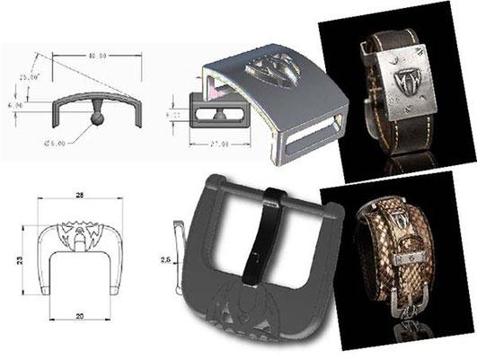 """Étude et conception de prototypes pour boucles de montres """"MAW"""""""