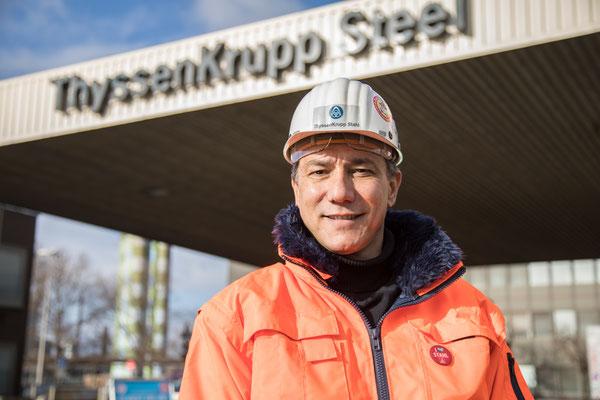 Tekin Nasikkol, Vorsitzender des Betriebsrats bei Thyssen-Krupp Steel