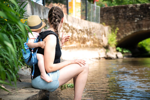 Onbuhimo Babytragen - tragen im Sommer