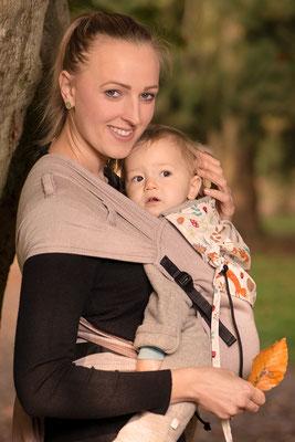 Huckepack Wrap Tai Babytrage ab Geburt