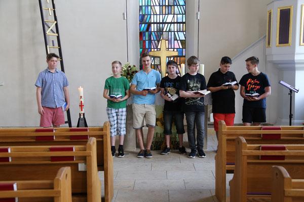 Liturgische Übungen mit Konfis
